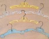 Vintage Baby Hangers (white, blue, yellow)