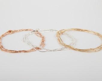 Bracelet Gold Silver Or Rosegold Ball Chain Plated Ballchain Beads Bracelet Snake Layer Look