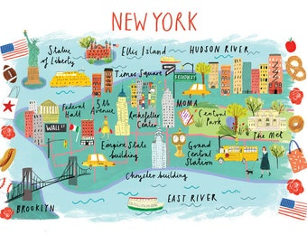 A4 Map of New York