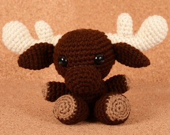 Brownie the Moose Crochet Toy Doll