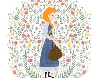 Anne Shirley - Anne of Green Gables - Fine Art Print