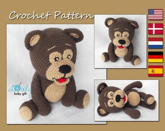 Crochet Amigurumi Pattern, Teddy Bear Crochet Pattern, Pdf, CP-107