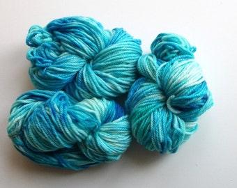 Hand dyed merino cashmere nylon superwash yarn 87 yds.(80 m)