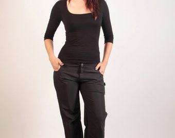 Syklo 7/8 smooth polyester Pant black