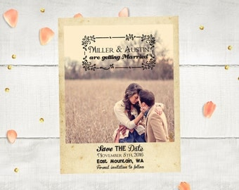 "Wedding Save The Date Magnets - EastMountain  Photo Personalized 4.25""x5.5"""
