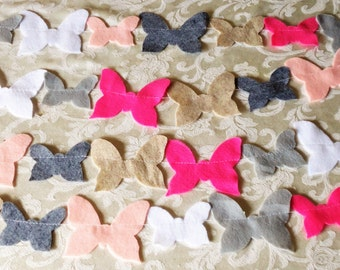 Pinks and Grays Felt Butterfly Garland