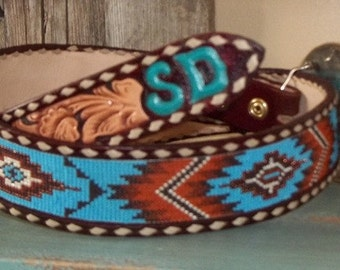 Handmade beaded belt