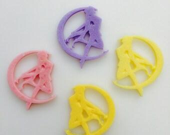 Handmade Resin Sailor Moon Silhouette Cabochon