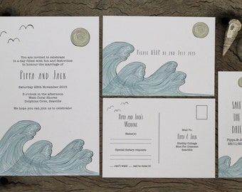 Beach Wedding Stationery Suite