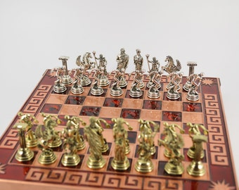 Discobolus chess set (25X25) / Copper chessboard
