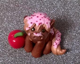 ooak cherry sugar sprinkles pony sculpture