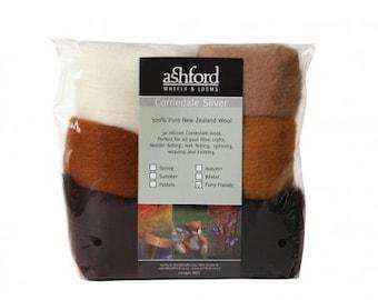 Needle felting wool palette kit, 3.5 oz, Color: Furry Friends