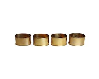 Vintage Gold Brass Napkin Rings Set of 4