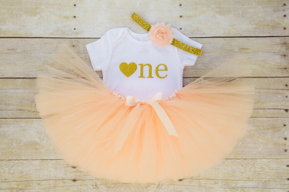 Shabby chic birthday outfit peach and gold birthday - Shabby chic outfit ideas ...