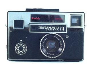 Vintage Kodak Instamatic 714 Camera, Vintage Rangefinder, Lomography Camera, Vintage Film Camera, 126 Film Camera, Unique Mens Gift (C1065)