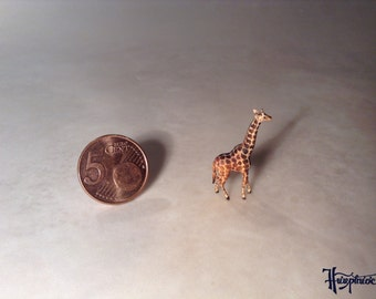 Wooden miniature giraffe