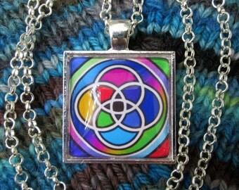Multiplicity / Plurality Symbol - Multicolor - Silver Rolo Chain