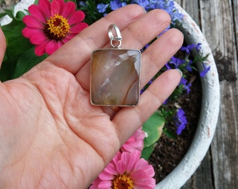 Amazing Agate Sterling Silver Pendant