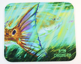 Redfish Fly Fishing Mouse Pad