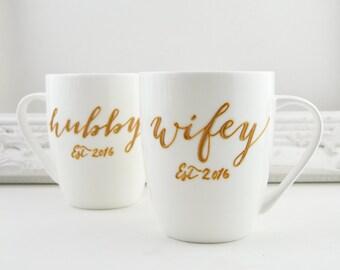 Wifey/Hubby Fine Bone China Mugs