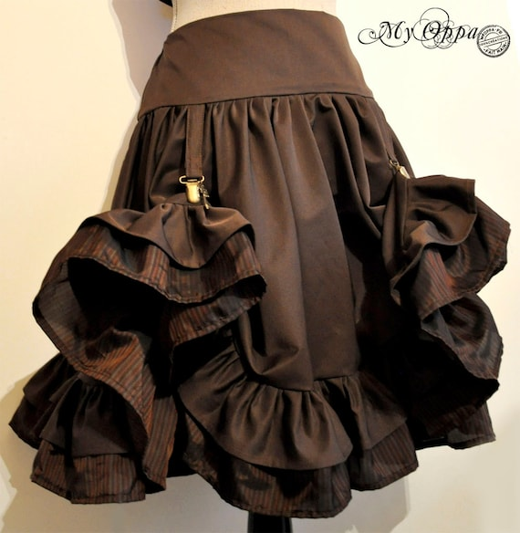 skirt steampunk chocolate with clips
