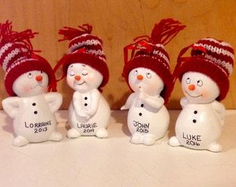 Snowmen Personalized Christmas Ornament