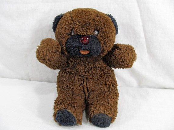 Talking Baby Wurble - Vintage 1980's Teddy Bear Motion Activated Beeping Works Cuddle Wit Battery Operated Toy Brown/Black Stuffed Animal