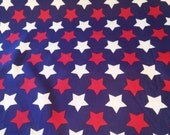 Patriotic Fabric, Stars Fabric, Red White Blue, USA/American Fabric, July 4th/Memorial Day, Quilt Fabric, Craft Fabric, Novelty Fabric