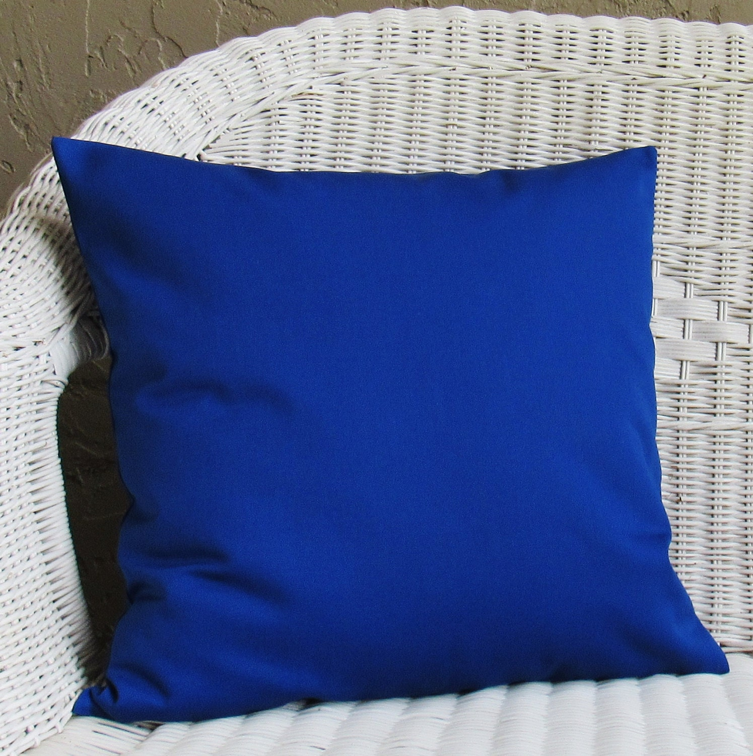 Throw Pillows Royal Blue : Royal Blue Cobalt Throw Pillow Cover Decorative Accent Toss