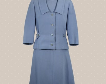 Light-blue woman suit