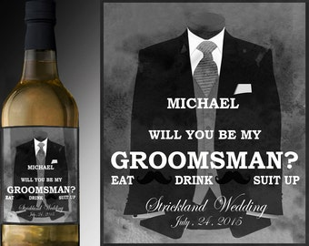 groomsmen gift wedding gift ideas will you be my groomsman beer labes groomsmen gift set best man gift groomsman gift unique wedding gift