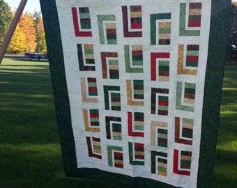Modern Contemporary Batik Twin Handmade Quilt
