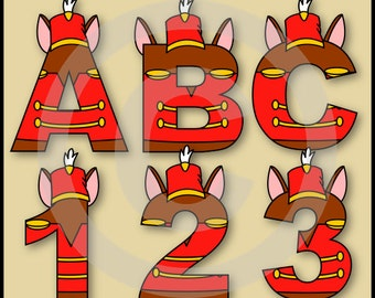 Timothy (Dumbo) Alphabet Letters & Numbers Clip Art Graphics