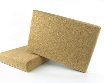Cork Yoga Block Natural