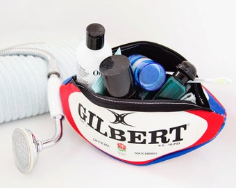 Licensed Personalised England Rugby Ball Washbag