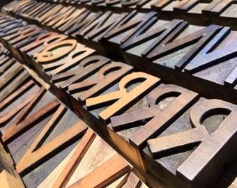 Vintage Letterpress / Letterpress Letters / Print Type Letters / Printers Block Letters / Printing Press Letters / Printer Press Letters