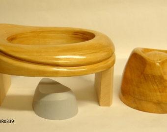 Wooden Hat Block WG0340+WR0339