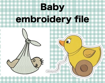 Baby embroidery design , Baby bunting embroidery file