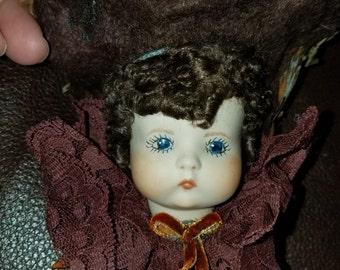 Bisque Doll Head Ornament