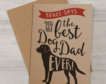 Father's Day Card from the dog with Labrador - Best Dog Dad Labrador Card