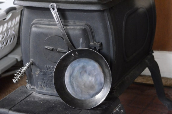 Hand Forged Iron Skillet Carbon Steel Pan Blacksmith Made