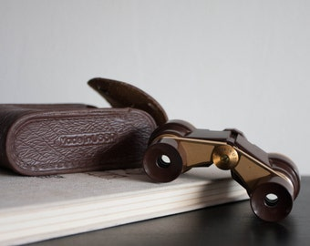 Black Small Binoculars With Gold Rim, Soviet Opera Glasses, Vintage Soviet Theater Binoculars, Travel, Dude