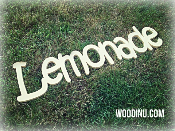 how to make a lemonade stand sign