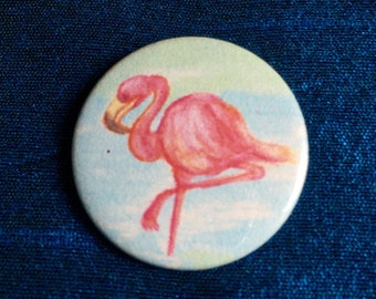 Flamingo 25mm Badge