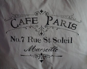 Cafe Paris Muslin Pillow