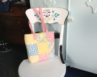 Quilted tote bag/diaper bag