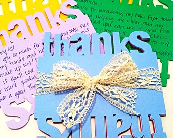 Thanks - Flat Note Cards (set of 12)