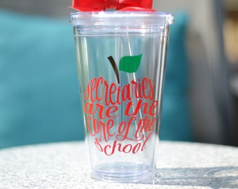 School Secretary Gift - Secretaries are the core of the school - Personalize with Name For Free