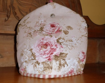Floral Tea Cosy : 100% hand- sewn.