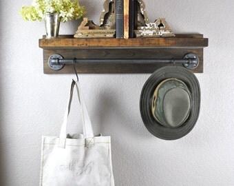 porte papier toilette industriel avec tag re tuyau de. Black Bedroom Furniture Sets. Home Design Ideas